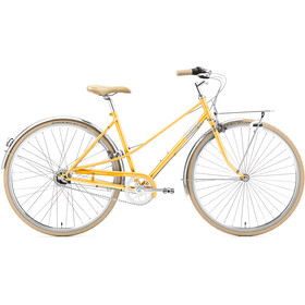 Creme Caferacer Uno 3-speed Dames, sunny orange